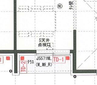 一条工務店i-smart玄関上のバルコニー図面