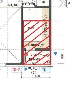 バルコニーの構造用合板の設置イメージ