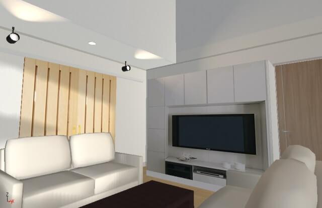 一条工務店i-smart マイホームデザイナー12で作成したロビング