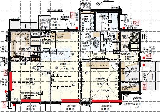 一条工務店i-smartの間取り図(1F)