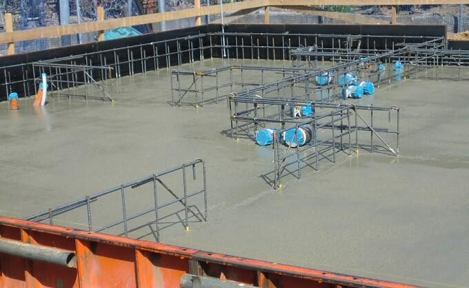 基礎工事12日目 スラブのコンクリート打設を見学してきました