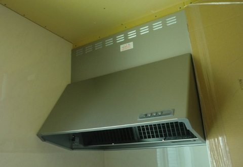 一条工務店i-smartオプションのオリジナルセカンドキッチン、レンジフード