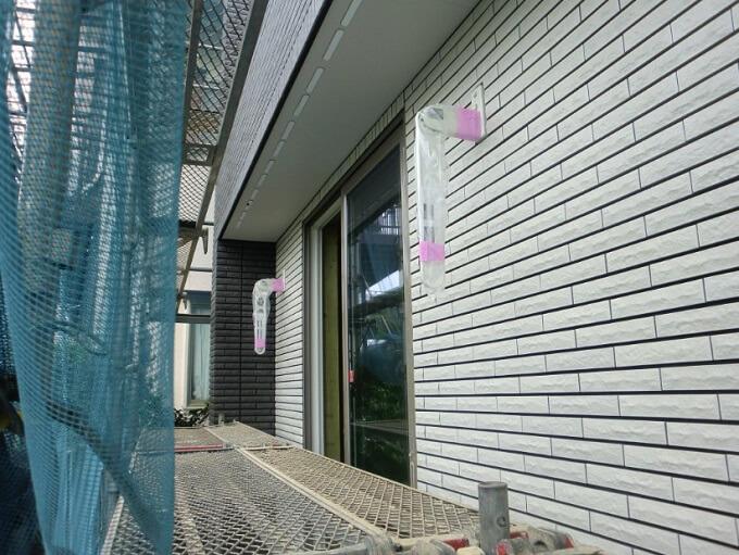 上棟28日目 外壁タイル、フローリング貼り終了
