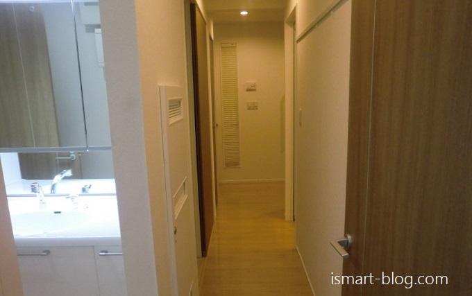 一条工務店i-smartの廊下