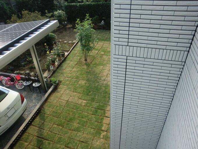 【Web内覧会・第20回】外構工事後の庭作りDIY 芝生の植え方(張り方)