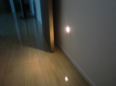 一条工務店i-smart内覧会、LEDの足元灯