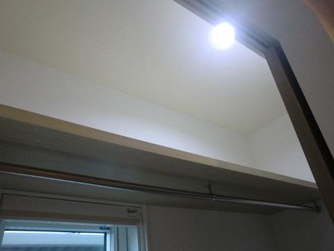 一条工務店i-smartのシューズクロークの照明(ダウンライト)