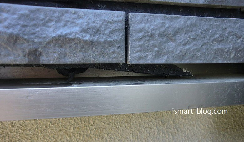 外壁サイディングが破断して落下、発見から補修の様子まで