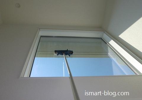 吹き抜け高所窓の掃除方法