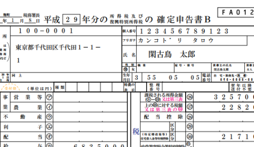 【平成29年度版・住宅借入金等特別控除の確定申告書】確定申告書の作成方法の具体的手順