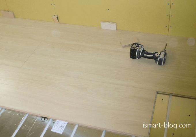 一条工務店i-smartフローリング施工工事
