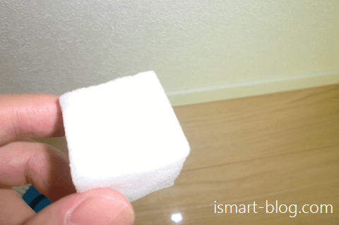 一条工務店i-smart巾木の汚れを落とすメラミンスポンジ