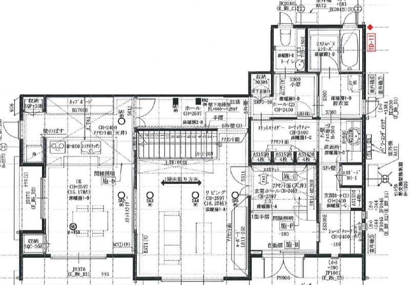 一条工務店伊勢崎展示場i-smartの1F平面図