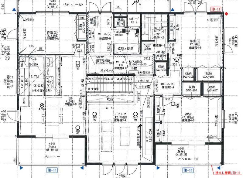 一条工務店伊勢崎展示場i-smartの2F平面図