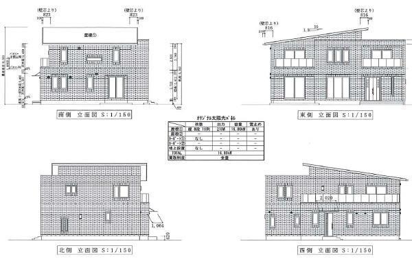 一条工務店伊勢崎展示場i-smartの立面図