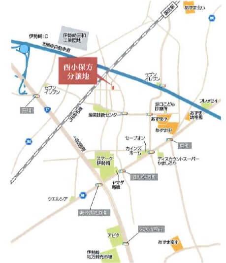 一条工務店伊勢崎展示場i-smartの新しい宿泊体験棟の地図