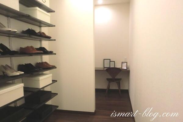 一条工務店群馬の「i-concept model room」のシューズクローク