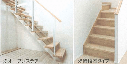 i-smart仕様確認ノートより抜粋した選択可能な階段パターン